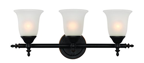 【Trans Globe Lighting 20393 ROB Bell Knob Triple Bath Bar Rubbed Oil Bronze Rubbed Oil Bronze by Trans Globe Lighting】     b018y5oxuu
