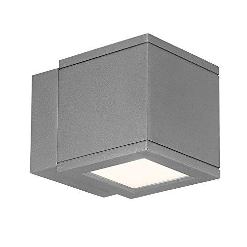 【WAC Lighting WS-W2504-GH Rubix LED Outdoor Wall Light Fixture One Size White/Graphite [並行輸入品]】     b00l1j1mla