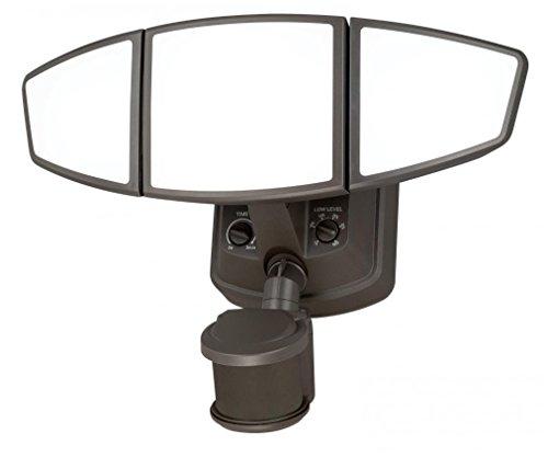 【Vaxcel T0103 Omega Smart Lighting 3 Light Motion Sensor Security Light Bronze Finish by Vaxcel】