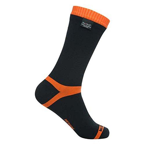 【DexShell(デックスシェル) 防水通気靴下 Hytherm Pro socks (ハイ サーモ プロソックス) DS634 オレンジストライプ S】     b00isbwpss