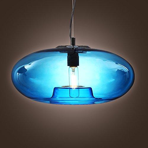 【LightInTheBoxヴィンテージガラスペンダントライトブルーバブルモダンデザインで、ミニスタイル天井照明器具ダイニングルーム用、ベッドルーム、リビングルーム、Bulb Included】