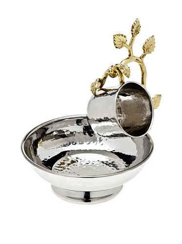 【Godinger Leaf Hanging Wash Cup & Bowl by Godinger】     b009w28hlq