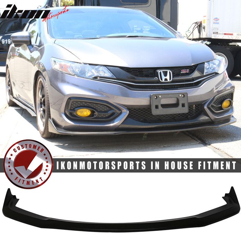 USパーツ 14-15ホンダシビッククーペ2Dr CS2フロントバンパーリップスポイラー -  PUウレタン 14-15 Honda Civic Coupe 2Dr CS2 Front Bumper Lip Spoiler - PU Urethane