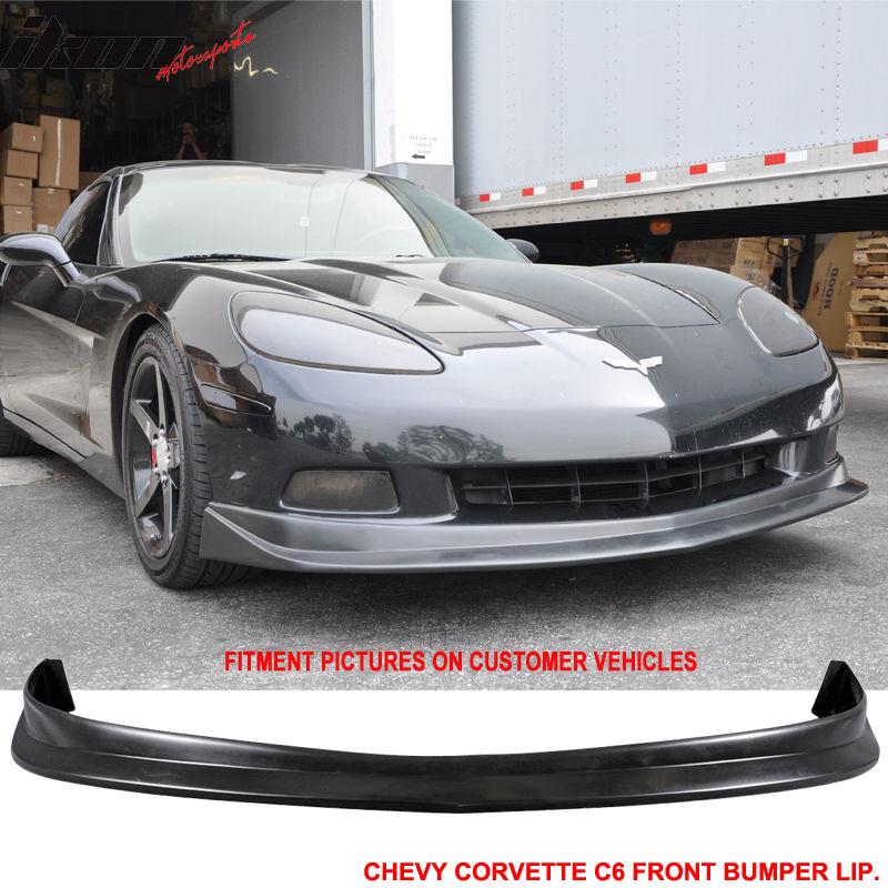 USパーツ 05-13 Chevy Corvette C6ウレタンフロントバンパーリップスポイラースプリッターPUボディキット 05-13 Chevy Corvette C6 Urethane Front Bumper Lip Spoiler Splitter PU Body Kit
