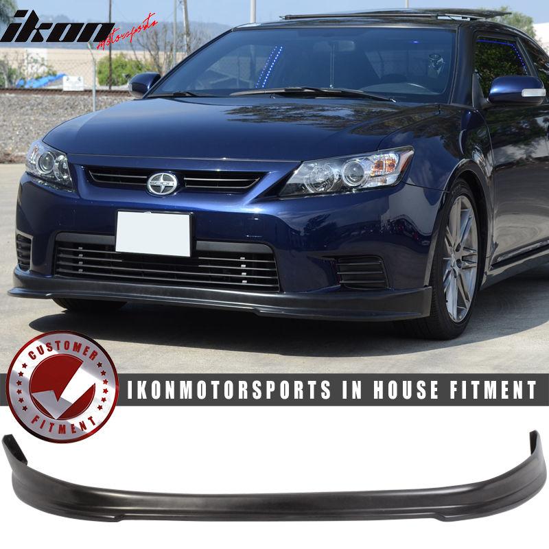 USパーツ 11-13シオンtC 2DrクーペRSスタイルフロントバンパーリップスポイラー - ウレタンPU 11-13 Scion tC 2Dr Coupe RS Style Front Bumper Lip Spoiler - Urethane PU