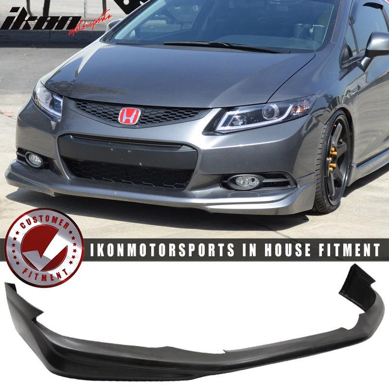 USパーツ 12-13ホンダシビッククーペ2Dr USDMモジュロスタイルフロントバンパーリップウレタンPU 12-13 Honda Civic Coupe 2Dr USDM Modulo Style Front Bumper Lip - Urethane PU