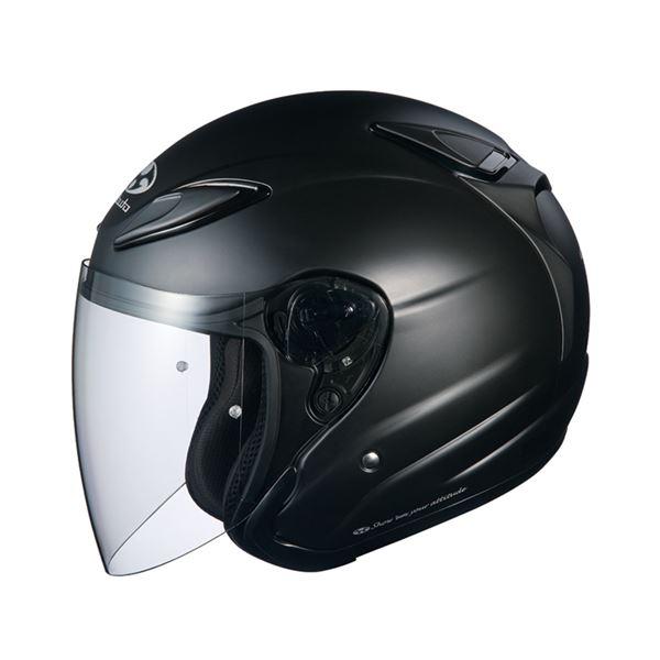 【全国送料無料】AVAND2 ジェットヘルメット シールド付き フラットブラック M 【バイク用品】【ポイントアップ中】