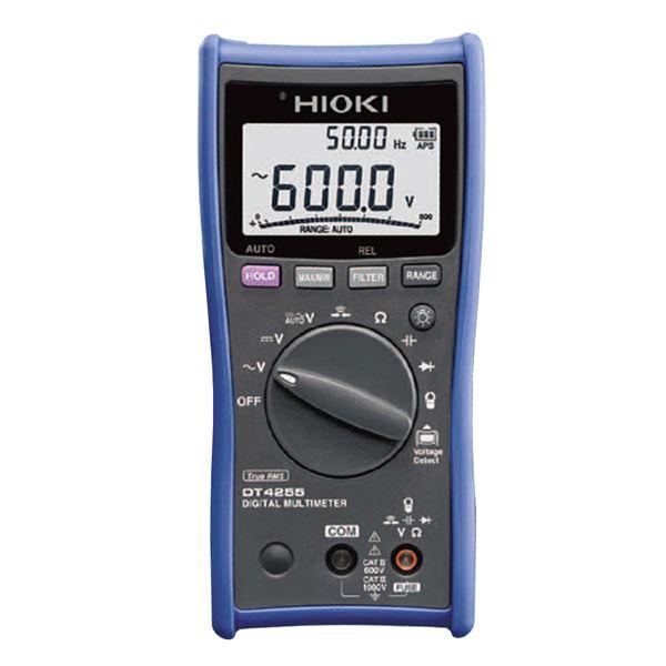 【全国送料無料】日置電機 デジタルマルチメータ(電圧測定端子にヒューズ付の安全型) DT4255【代引不可】【ポイントアップ中】