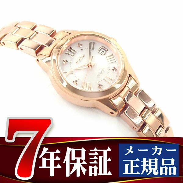 【おまけ付き】【SEIKO WIRED f】セイコー ワイアードエフ SOLAR COLLECTION ソーラーコレクション ソーラー 腕時計 レディース ピンク AGED080