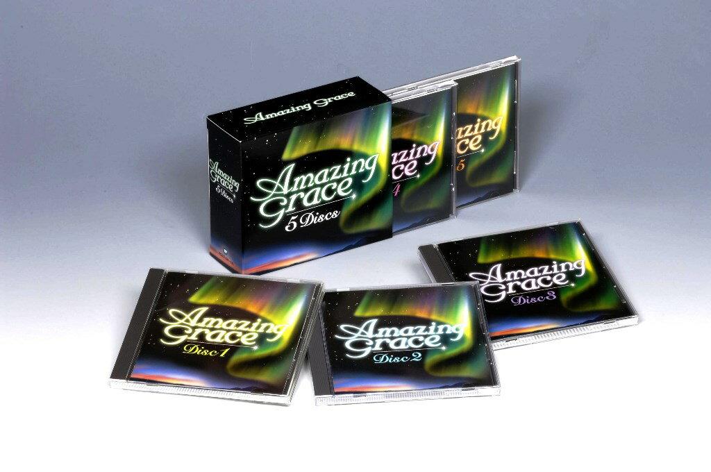 【送料無料】 ヒーリング&リラクシング・ミュージック集 『AMAZING GRACE アメイジング・グレイス』 CD5枚組 楽曲解説付き