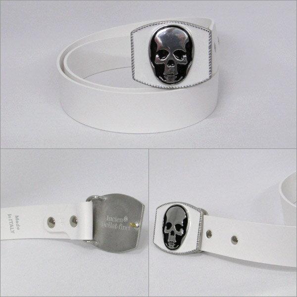 lucien pellat-finet (ルシアン ペラ フィネ) メンズ ベルト [34002] ホワイト系 BELT11 white