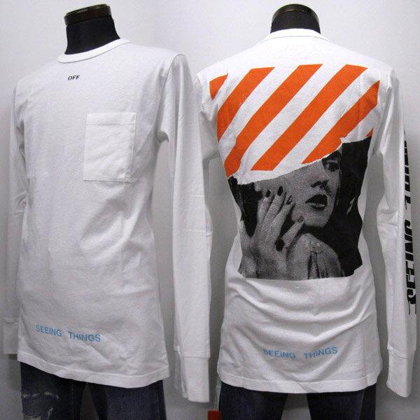 【並行輸入品】 OFF WHITE ロングTシャツ メンズ 秋冬 プリント ホワイト系 XXS-M OMAB001F171850470188 WHITE [41003]