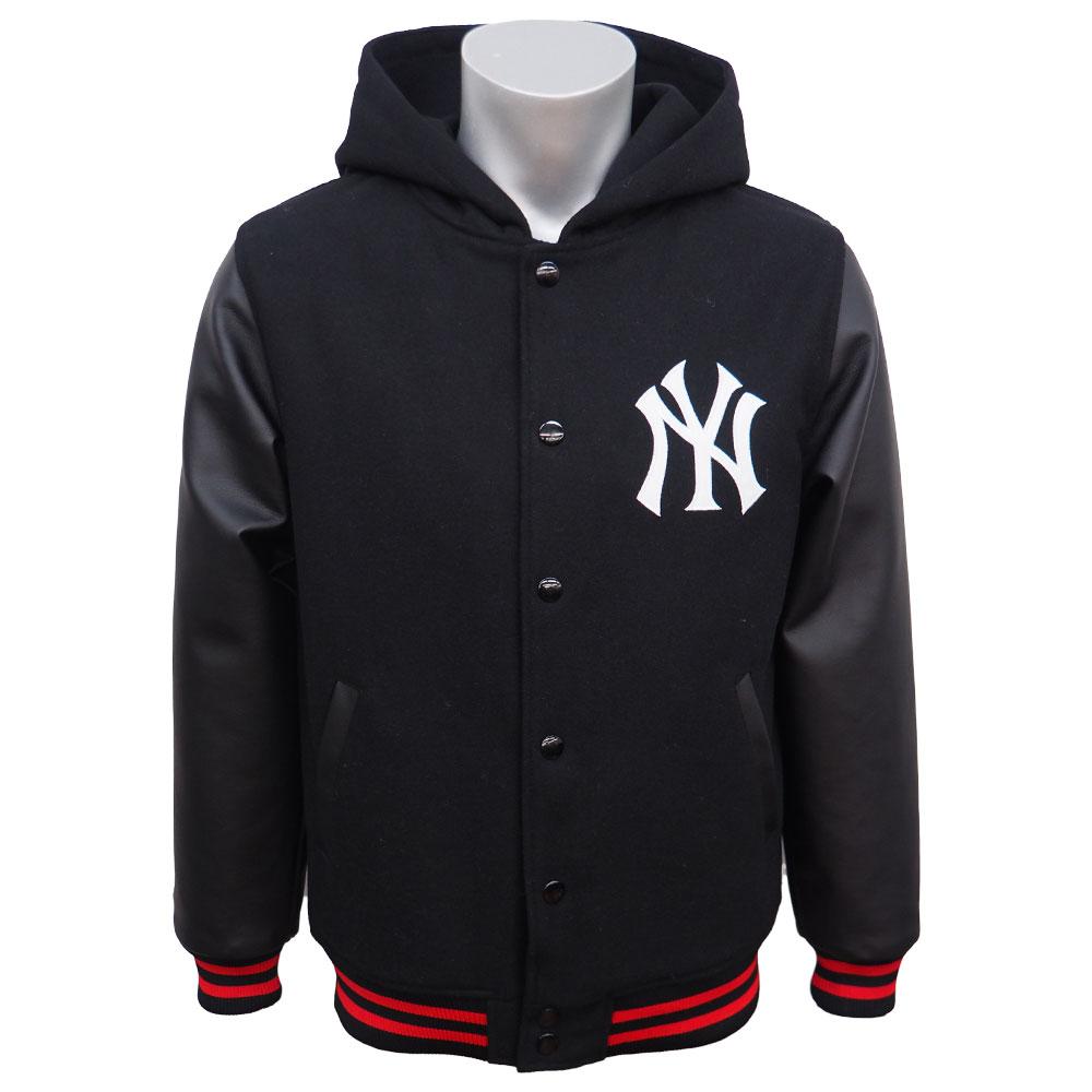 MLB ヤンキース フード スタジアムジャケット マジェスティック/Majestic ブラック