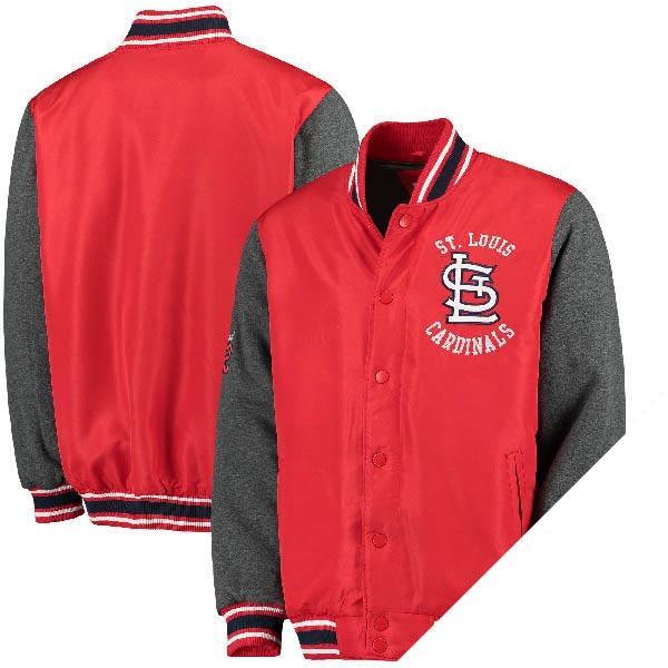 お取り寄せ MLB カージナルス オリジナル バーシティー ボタンアップ ジャケット ジースリー/G-III レッド