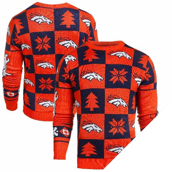 NFL ブロンコス アグリー セーター 2016 Klew オレンジ