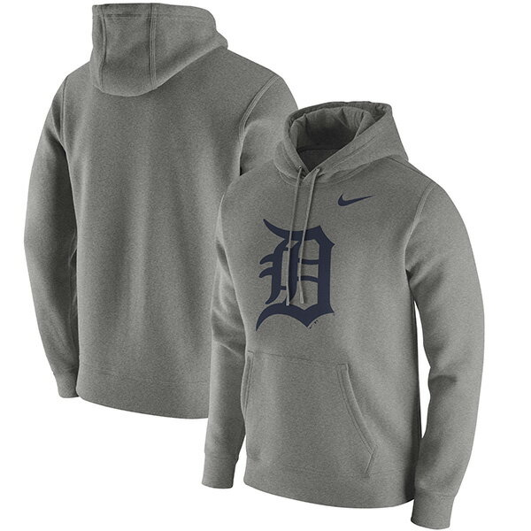 お取り寄せ お取り寄せ MLB タイガース クラブ パーカー ナイキ/Nike Heathered Gray
