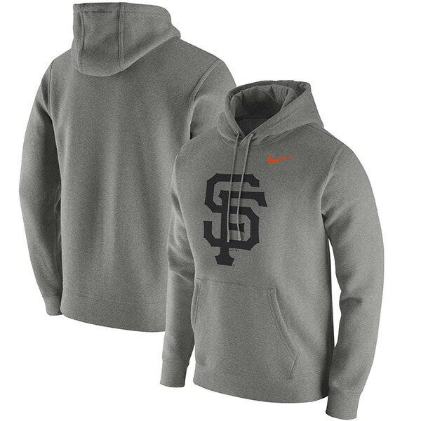 お取り寄せ お取り寄せ MLB ジャイアンツ クラブ パーカー ナイキ/Nike Heathered Gray