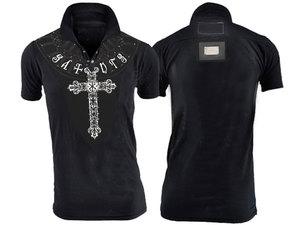 【THE SAINTS SINPHONY/セインツシンフォニー】I FEEL GOOD・ポロシャツ(半袖・ブラック・BLK)/メンズ【インポート】【セレカジ】【正規品】