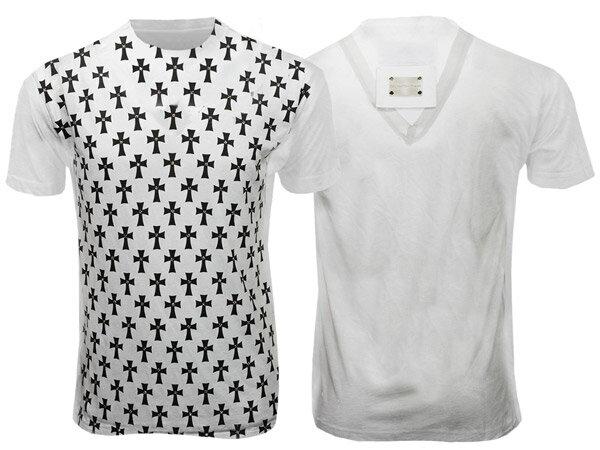 新作【THE SAINTS SINPHONY/セインツシンフォニー】CROSSES・Tシャツ(半袖・CREWネック・ホワイト・WHT)/メンズ【インポート】【セレカジ】【正規品】