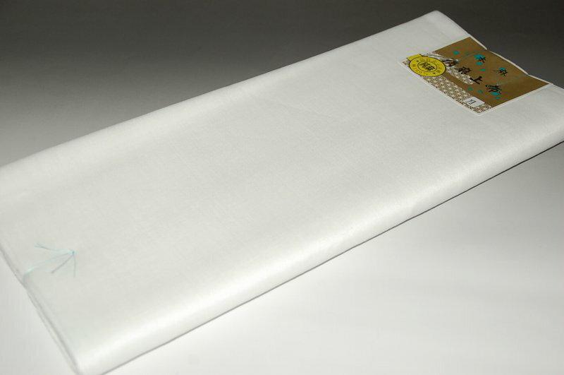滋賀「麻」夏襦袢-白色「月印」平生地タイプ(巾40センチ・素材-本麻)(未仕立て・襦袢反物)【日本製品・送料無料】