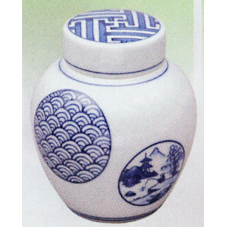 茶道具 茶入 染付 祥瑞 丸紋 加藤清昌 (茶道具 通販 楽天)
