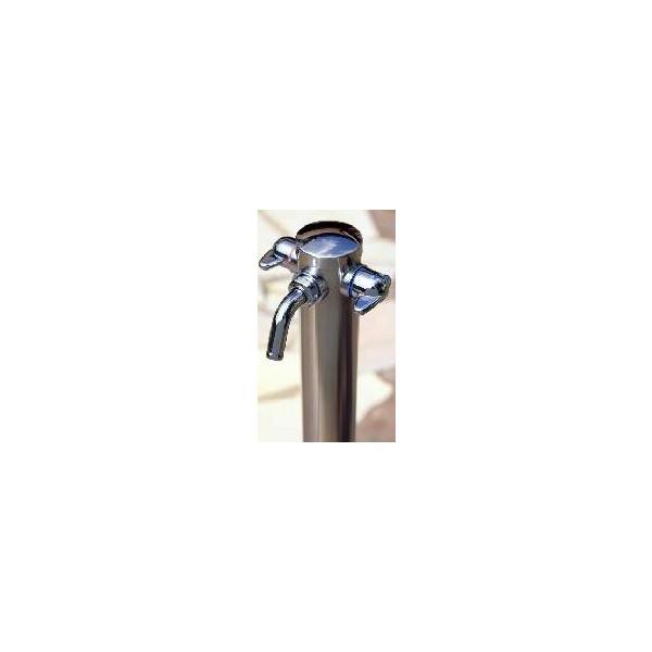 庭・ガーデニング水栓 湯水混合水栓柱 G208-KS 【RCP】 10P24Dec15