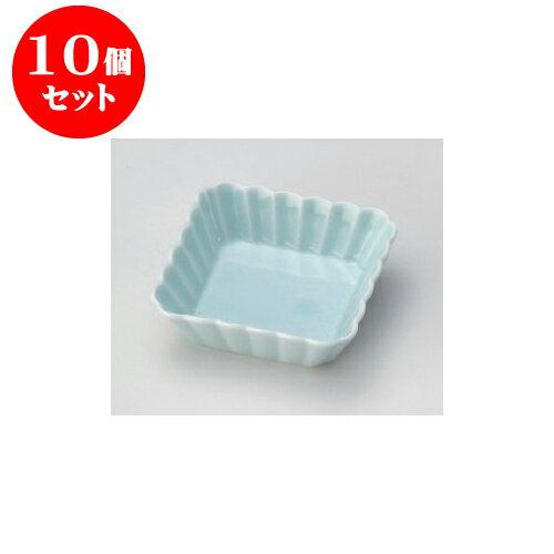 10個セット 松花堂 青白磁霞11cm浅角鉢 [11.3 x 3.2cm] 【料亭 旅館 和食器 飲食店 業務用】