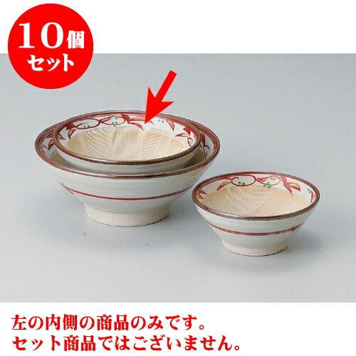 10個セット すり鉢 赤絵唐草5.0すり鉢 [15 x 7cm] 【料亭 カフェ 和食器 飲食店 業務用】