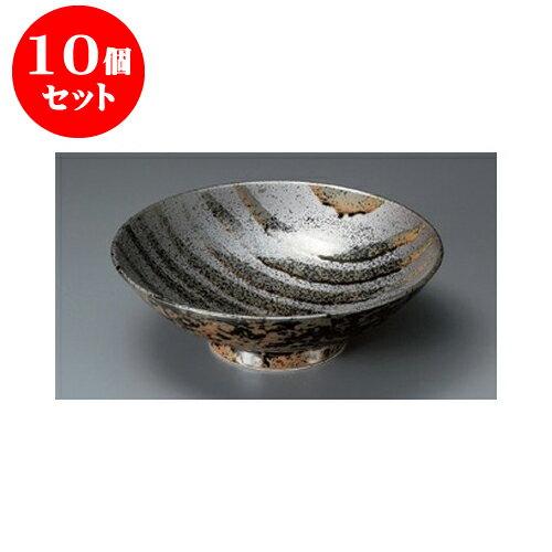 10個セット めん皿 流彩ライン8.0盛鉢 [24.5 x 7.8cm] 【料亭 旅館 和食器 飲食店 業務用】