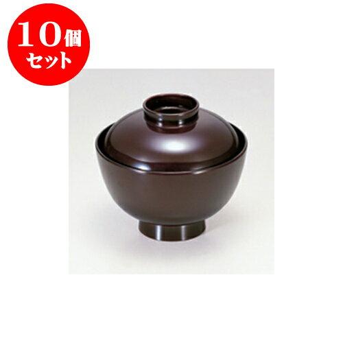 10個セット 小吸碗・煮物椀 [TA]越前椀溜 [11.1 x 9.9cm] 【料亭 旅館 和食器 飲食店 業務用】