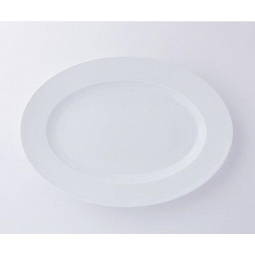 洋陶オープン GIGA(白磁強化) TA183 GIGA 18吋リムプラター [ 45.3 x 32.3 x 4.3cm ] | 楕円 皿 プラター 丸 パスタ 人気 おすすめ 食器 洋食器 業務用 飲食店 カフェ うつわ 器 おしゃれ かわいい ギフト プレゼント 引き出物 誕生日 贈り物 贈答品