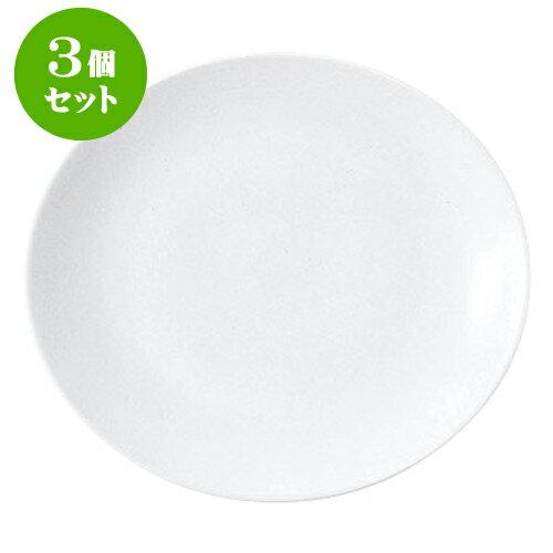 3個セット エクシブ 29cm楕円皿 [L28.8 X S25.7 X H3.8cm]   【洋食器 モダン レストラン ウェディング バー カフェ 飲食店 業務用】