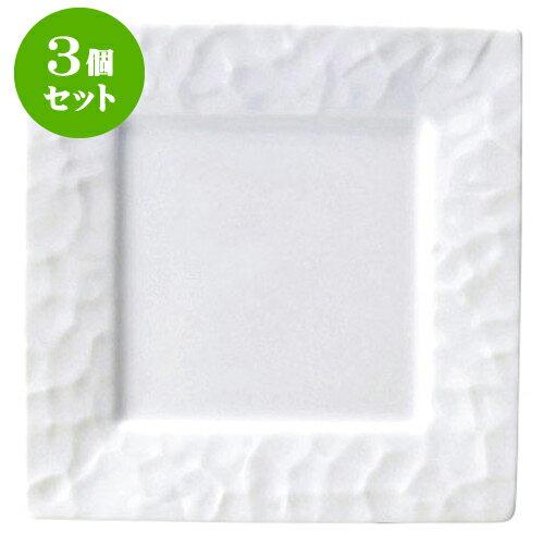 3個セット パピエ 23cm皿 [D23.3 X H2.4 ID14.2cm]   【洋食器 モダン レストラン ウェディング バー カフェ 飲食店 業務用】