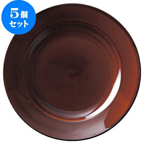 5個セット エクシブ 27cmディナー(アメ) [D27.6 X H3.4 ID19.5cm]   【洋食器 モダン レストラン ウェディング バー カフェ 飲食店 業務用】