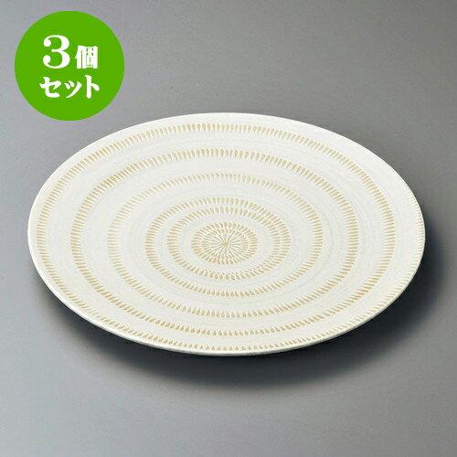 3個セット丸皿 かんなメタ10.0皿 [ 31.2 x 3.2cm ] 料亭 旅館 和食器 飲食店 業務用