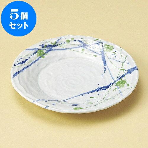 5個セット 丸皿 砂目2色打6.0皿 [ 19.2 x 2.8cm ] | 中皿 デザート皿 取り皿 人気 おすすめ 食器 業務用 飲食店 カフェ うつわ 器 おしゃれ かわいい ギフト プレゼント 引き出物 誕生日 贈り物 贈答品