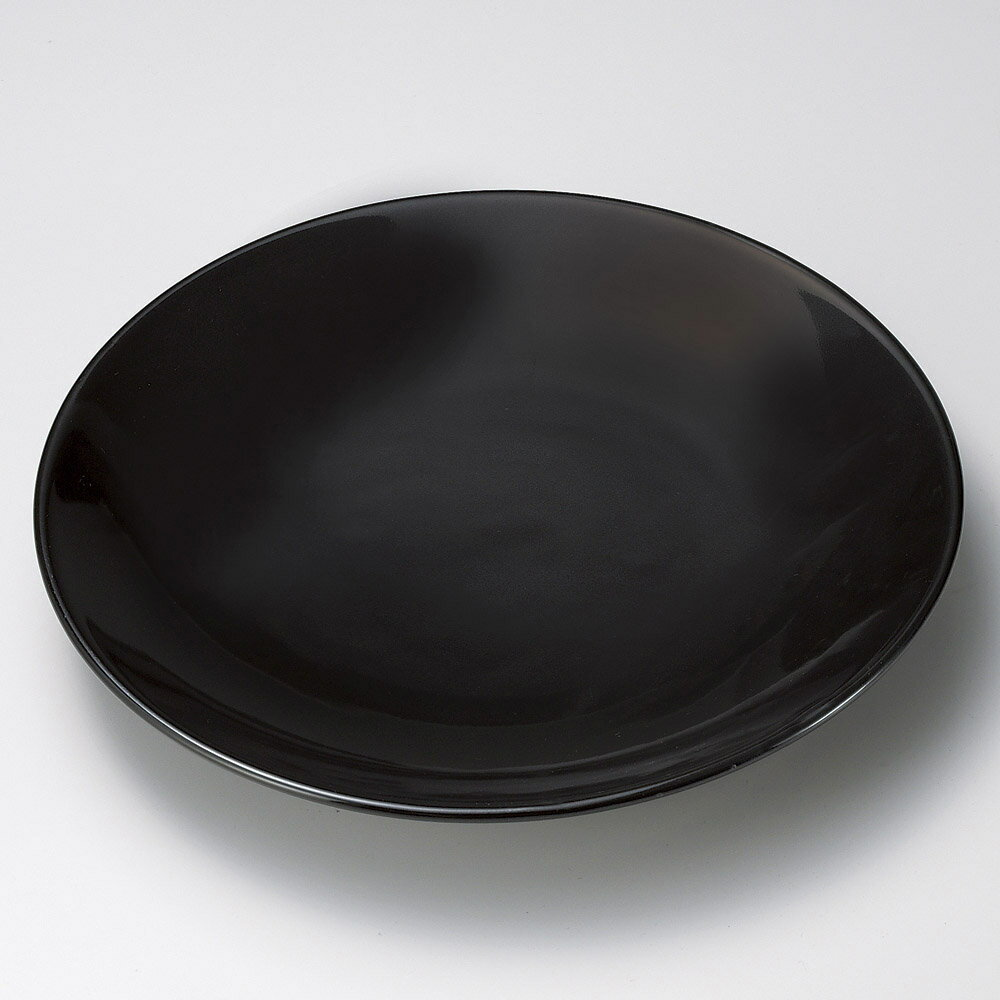 有田焼大皿 黒釉15号皿(有田焼) [ 46 x 6cm ] 【料亭 旅館 和食器 飲食店 業務用】