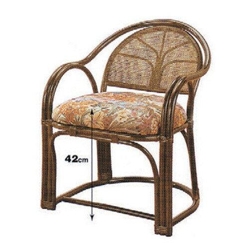 椅子 アームチェア高脚 [52 x 53 x H65 x SH42cm] 藤 (7-773-14) 【料亭 旅館 和食器 飲食店 業務用】