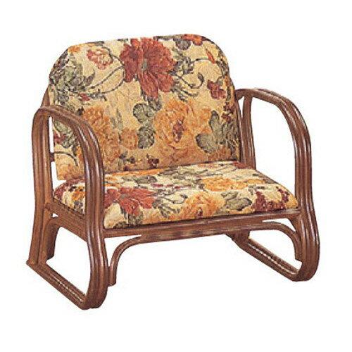 椅子 アームチェアDX低脚 [55 x 47 x H50 x SH23cm] 藤 (7-773-15) 【料亭 旅館 和食器 飲食店 業務用】