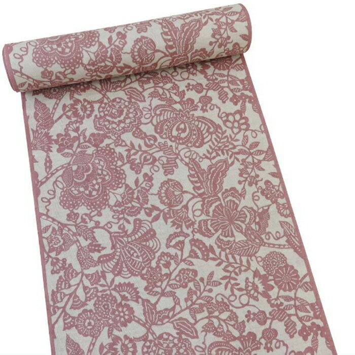 【オフィストリエ】長板染め浴衣反物 ピンク 送料無料 数量限定 日本製[桜色 赤 浴衣yukataお祭りお仕立て] 10P03Dec16