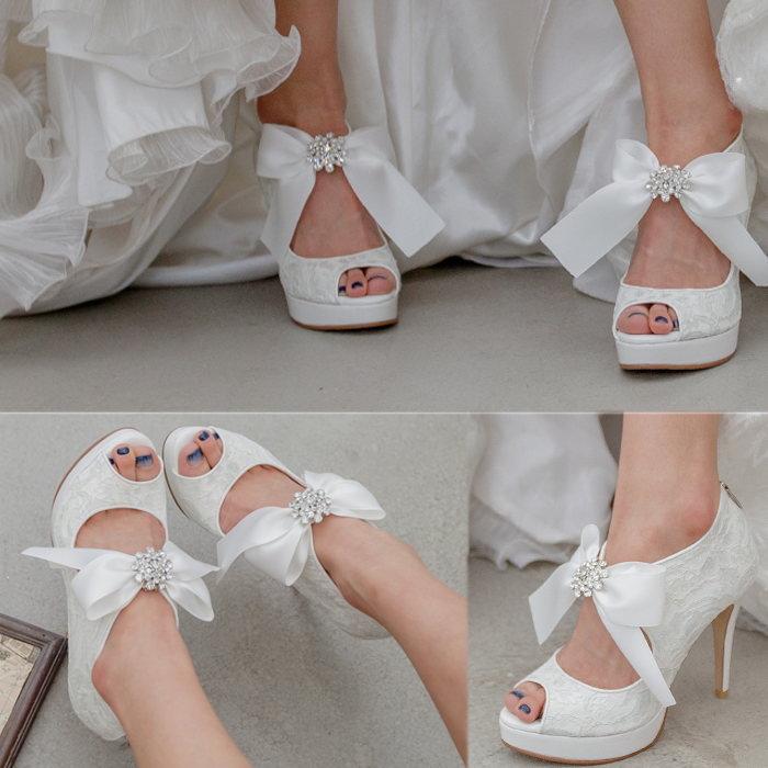 ビッグリボンレースブーツサンダル プロポーズギフト ウエディング 結婚式 パーティー ドレス