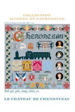 【送料無料】Sajou クロスステッチ シュノンソー城  Kit de point de croix : le château de Chenonceau キット サジュー フランス メゾンサジュー  KIT_PDC_MUP_CHEN_01