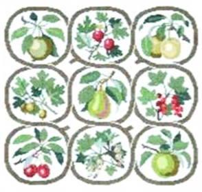 【DM便対応】フレメ frugter 果物 10B クロスステッチ Haandarbejdets Fremme キット デンマーク 刺しゅう ギルド GB 30-4727