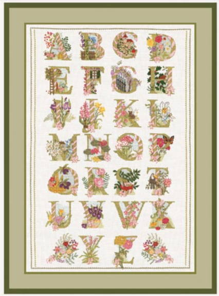 【送料無料】ル・ボヌール・デ・ダム Le Bonheur des Dames クロスステッチ Abécédaire fleurs アルファベットフラワーサンプラー キット 刺しゅう フランス 2012