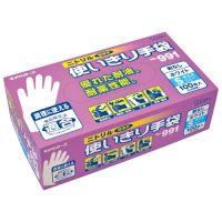 【エステー】 ニトリル使切手袋粉無No.991ホワイトS 12箱