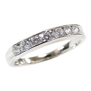 ダイヤモンド 0.49ct 指輪 4月誕生石 K18WG ホワイトゴールド ハーフエタニティー リング【RCP】