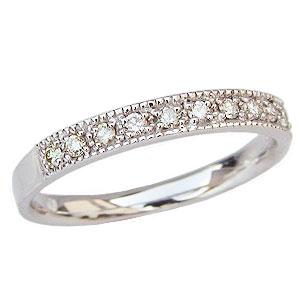 ダイヤモンド リング ハーフエタニティーリング 指輪 ダイヤモンド 0.15ct プラチナ PT900【RCP】
