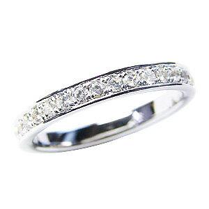 フルエタニティーリング ダイヤモンド リング ホワイトゴールド K18 結婚指輪 0.48ct【RCP】