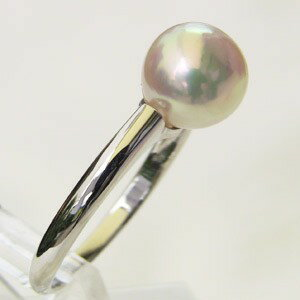 アコヤ本真珠 リング パール ピンクホワイト系 7mm PT900 プラチナ 指輪 6月誕生石 (あこや本真珠)【RCP】