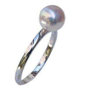 リング パール 指輪 あこや真珠パールリング ホワイトゴールド 6月誕生石【RCP】